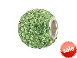 Zable™ Sterling Silver Pave Crystal Birth Month - August Bead / Charm style: BZ1288