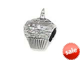 Zable™ Sterling Silver Cupcake Bead / Charm style: BZ1409