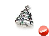 Zable™ Sterling Silver Christmas Tree Bead / Charm style: BZ1417