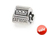 Zable™ Sterling Silver Vegas Slot Machine Pandora Compatible Bead / Charm style: BZ1418