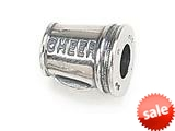 "Zable™ Sterling Silver Megaphone ""Cheer"" Pandora Compatible Bead / Charm style: BZ1429"