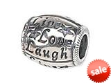 Zable™ Sterling Silver Live Love Laugh Bead / Charm style: BZ1444