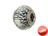 Zable™ Sterling Silver Black with Silver Specks Murano Glass Bead / Charm style: BZ1548