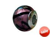 Zable™ Sterling Silver Murano Glass-Purple Carm Bead / Charm style: BZ1569