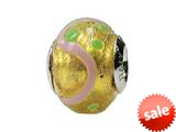 Zable™ Sterling Silver Murano-Light Flower Murano Glass Bead / Charm style: BZ1578
