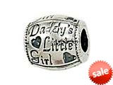 "Zable™ Sterling Silver Daddy""s Little Girl Pandora Compatible Bead / Charm style: BZ1705"