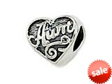 Zable™ Sterling Silver Aunt Heart Shape Pandora Compatible Bead / Charm style: BZ1706