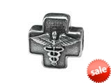 Zable™ Sterling Silver Cross with Caduceus Bead / Charm style: BZ1713
