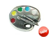 Zable™ Sterling Silver Artist Palette Bead / Charm style: BZ1715