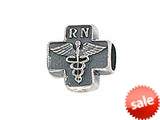 Zable™ Sterling Silver Cross with Caduceus and RN Bead / Charm style: BZ1716
