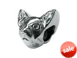 Zable™ Sterling Silver Chihuahua 2-Sided Bead / Charm style: BZ1731