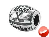 "Zable™ Sterling Silver ""Hockey Mom"" Pandora Compatible Bead / Charm style: BZ1736"
