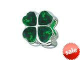 Zable™ Sterling Silver 4-Leaf Clover with Green Bead / Charm style: BZ1746