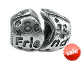 "Zable™ Sterling Silver ""Best Friend"", Break Apart Bead / Charm style: BZ1756"