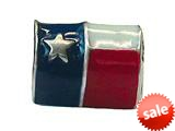 Zable™ Sterling Silver Texas Flag Pandora Compatible Bead / Charm style: BZ1778