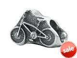 Zable™ Sterling Silver Bicycle Bead / Charm style: BZ1792CD