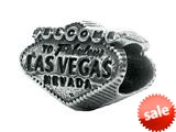 Zable™ Sterling Silver Welcome To Las Vegas Pandora Compatible Bead / Charm style: BZ1793