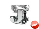 """Zable™ Sterling Silver Open Initial """"J"""" Bead / Charm style: BZ1810"""