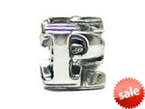 "Zable™ Sterling Silver Open Initial ""P"" Bead / Charm style: BZ1816"