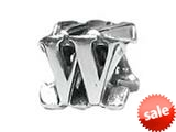 "Zable™ Sterling Silver Open Initial ""W"" Bead / Charm style: BZ1823"