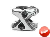 "Zable™ Sterling Silver Open Initial ""X"" Bead / Charm style: BZ1824"
