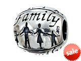Zable™ Sterling Silver Family Bead / Charm style: BZ1940
