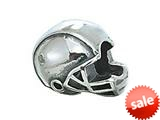 Zable™ Sterling Silver Football Helmet Bead / Charm style: BZ1985