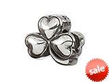 Zable™ Sterling Silver Shamrock Bead / Charm style: BZ2022