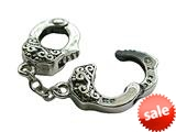 Zable™ Sterling Silver Handcuffs Bead / Charm style: BZ2032