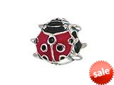 Zable™ Sterling Silver Enamel Ladybug Bead / Charm style: BZ2041