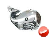 Zable™ Sterling Silver Whale Bead / Charm style: BZ2077