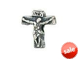 Zable™ Sterling Silver Crucifix Bead / Charm style: BZ2080
