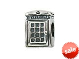 Zable™ Sterling Silver Telephone Booth Bead / Charm style: BZ2108