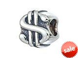 Zable™ Sterling Silver Dollar Sign Bead / Charm style: BZ2134