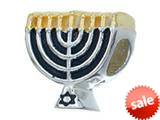 Zable™ Sterling Silver Menorah Bead / Charm style: BZ2198
