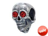 Zable™ Sterling Silver Skull Bead / Charm style: BZ2199