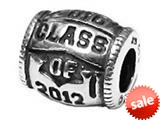Zable™ Sterling Silver Class Of 2012 Bead / Charm style: BZ2224