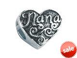 """Zable™ Sterling Silver """"Nana"""" Bead / Charm style: BZ2227"""