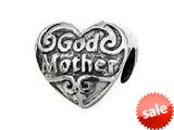 Zable™ Sterling Silver God Mother Pandora Compatible Bead / Charm style: BZ2241