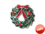 Zable™ Sterling Silver Wreath with Enamel and Crystals Bead / Charm style: BZ2610