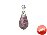 Zable™ Pink Drop with Silver Accents with Clip Pandora Compatible Bead / Charm style: BZ2906
