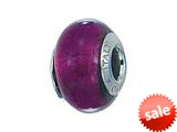 Zable™ Sterling Silver Murano Glass Birth Month February Bead / Charm style: BZ4002