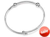 Zable™ Sterling Silver Smart Bangle with CZ End Compatible Beads style: BZB212