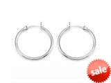Zable™ Sterling Silver Hoop Earrings 2x25mm for use with Bead / Charm style: BZB301