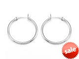 Zable™ Sterling Silver Hoop Earrings 2x30mm for use with Bead / Charm style: BZB302