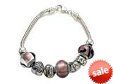 Zable™ Sterling Silver Bridal Theme Bracelet with 7 Beads style: BZB404