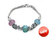 Zable™ Sterling Silver Baby Shower Theme Bracelet with 7 Beads style: BZB407