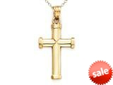 14kt Yellow Gold Cross Pendant Necklace - Chain Included style: CG14116