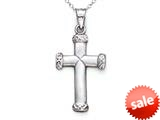 14kt White Gold Small Cross Pendant Necklace - Chain Included style: CG14135