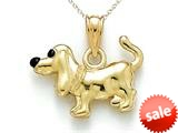14kt Yellow Gold Enamelled Dachshund Pendant Necklace - Chain Included style: CG17277